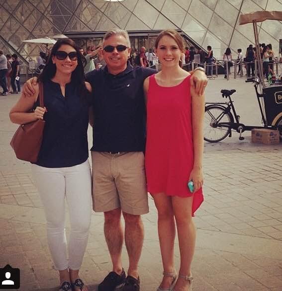 Jim with 2 of his 3 daughters in Paris